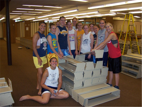 In May 2008, a core of student athletes prepared the library for its ...
